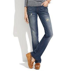 NWT Madewell Bootlegger Jeans in Rubble Wash 28x34